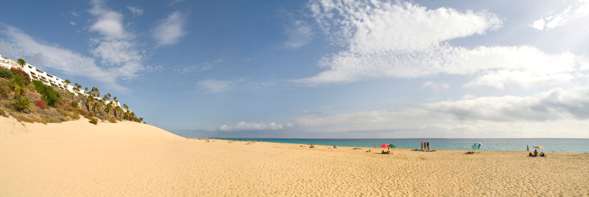 Morro Jable beach in Fuerteventura