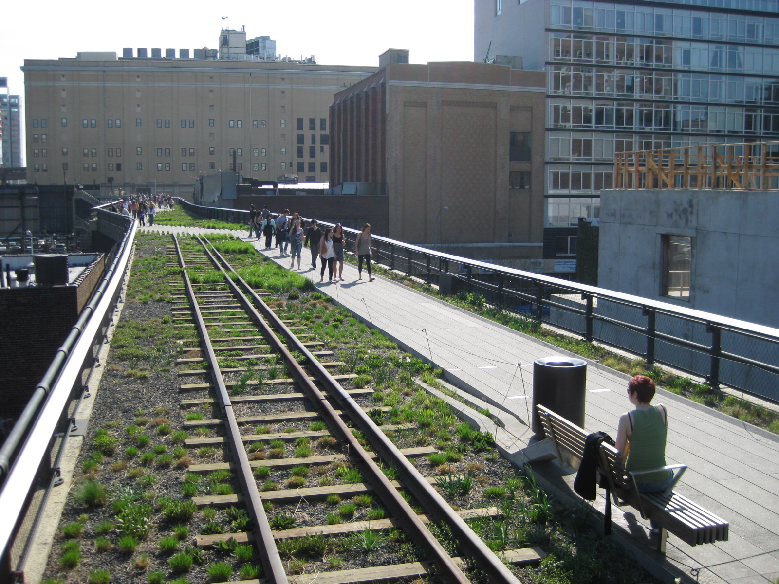 Visiting High Line Park is just one of the many unusual things to do in New York City...