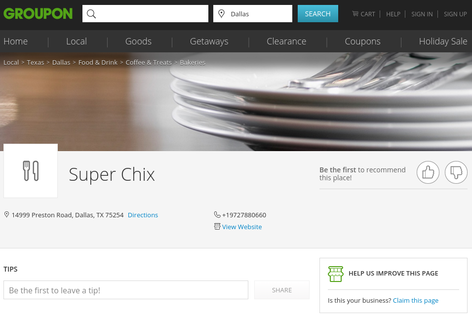 Groupon now integrates discount vouchers with business listings