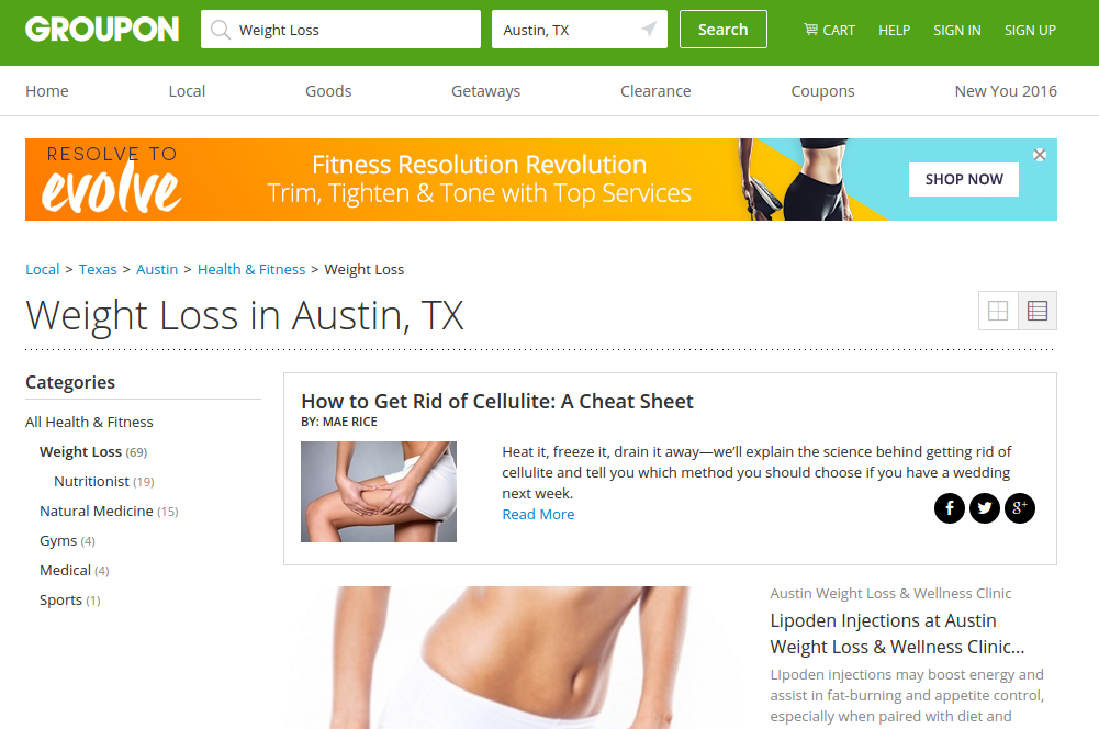 Save big when you lose weight with Groupon